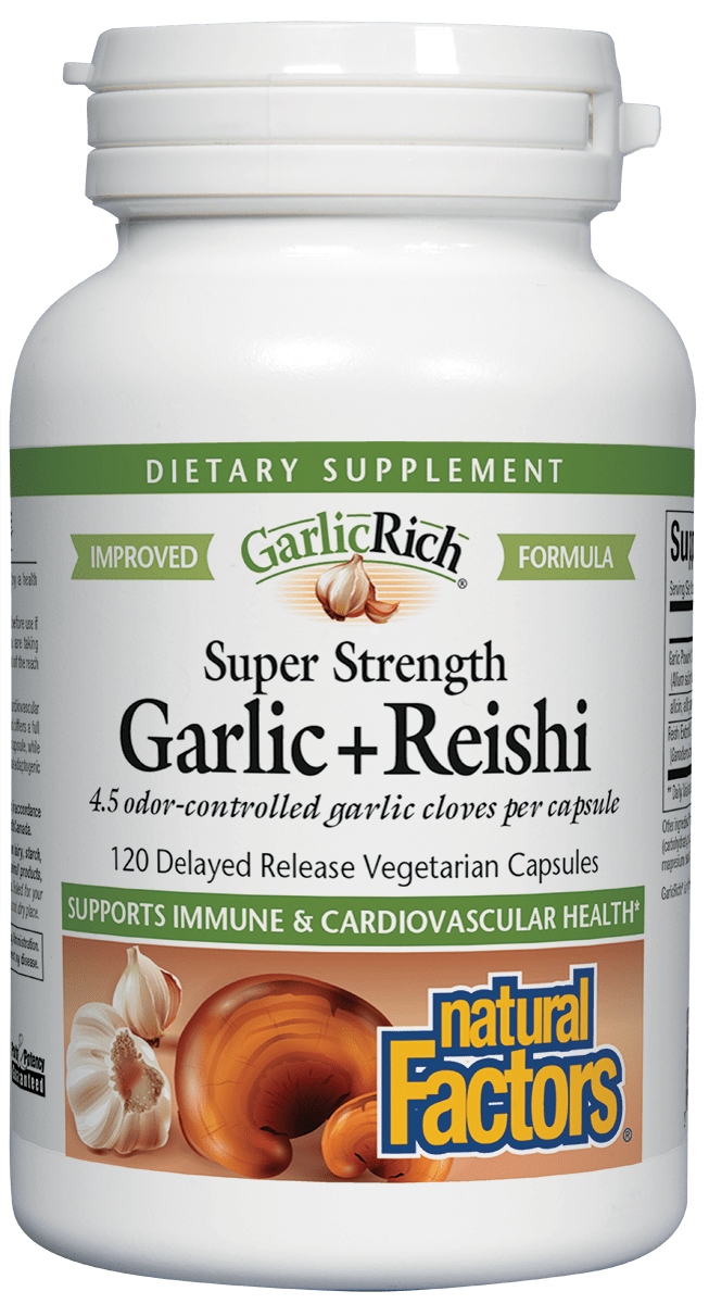 ЧЕСЪН + РЕЙШИ/ Super Strength Garlic + Reishi х 120 капсули